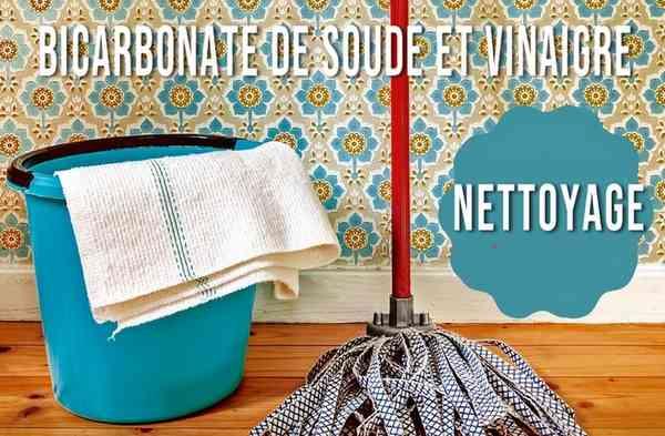 Bicarbonate de soude et vinaigre pour nettoyer la maison